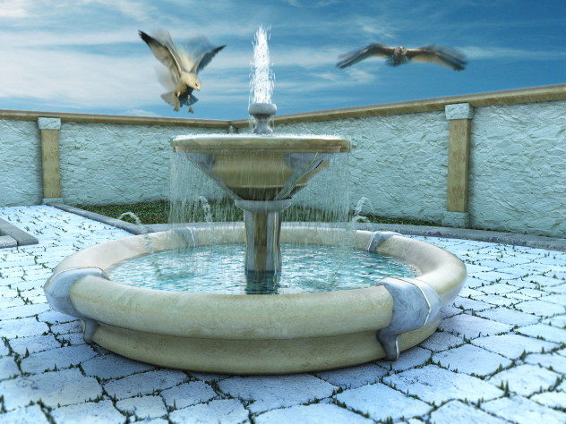 Fountain with Water Particle  System
