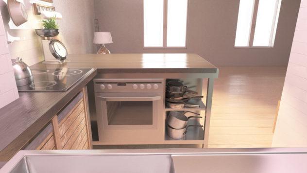 Kuhinja industrijski dizajn 4 detalj